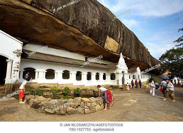Sri Lanka - Buddish Cave Temple Dambulla, Kandy province, UNESCO World Heritage Site, central region of Sri Lanka Island