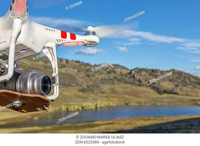 Phantom drone quadcopter flying