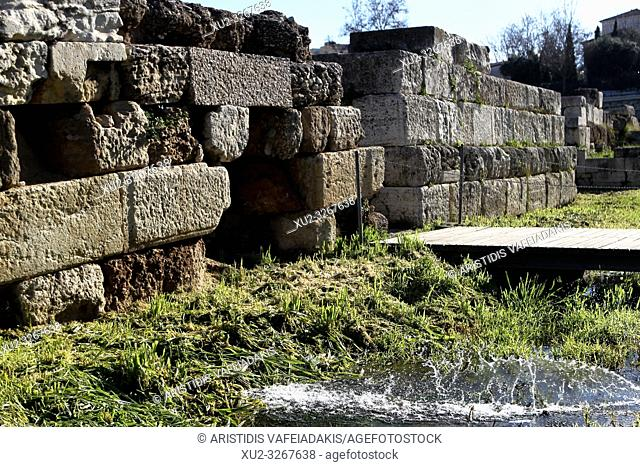 The ancient site of Kerameikos was divided into two parts by the walls of Athens, the so-called Themistoclean walls. The Themistoklean wall surrounds Athens...