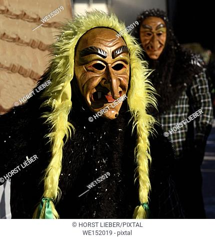 Swabian-Alemannic carnival 'Fasnet' in South Germany-Germany, Europe