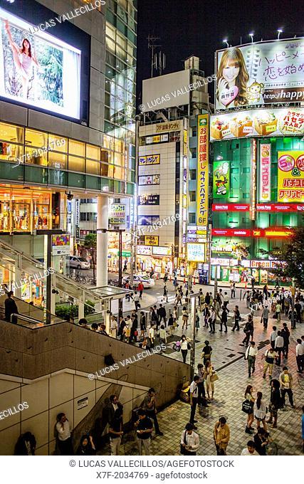 west exit of Shinjuku JR station.Shinjuku.Tokyo city, Japan, Asia