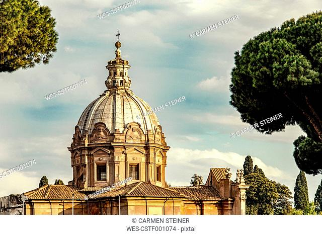 Italy, Lazio, Rome, Church Santi Luca e Martina, roman high baroque