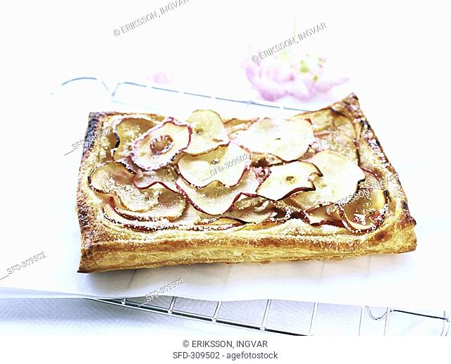 Apple puff pastry slice