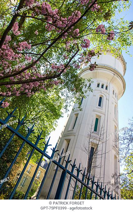 WATER TOWER, BUTTE MONTMARTRE, 18TH ARRONDISSEMENT, PARIS, FRANCE