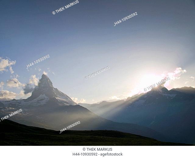 Alps, alpine, mountain, mountains, landscape, mountain lake, Europe, mountainous region, scenery, reflection, water, lake, lake Riffel, Riffelsee, reflection