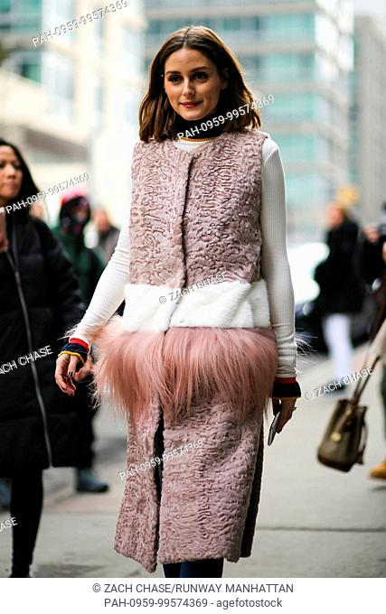 Olivia Palermo attending a runway show during New York Fashion Week - Feb 10, 2018 - Photo: Runway Manhattan/Zach Chase ***For Editorial Use Only*** |...
