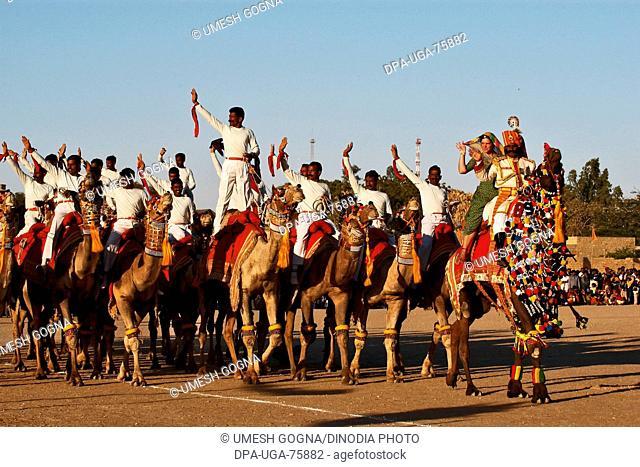 Camel Tattoo Show by BSF , Desert Festival 2004 , Jaisalmer , Rajasthan , India