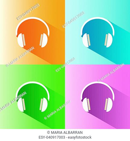Headphones icon on a colored background