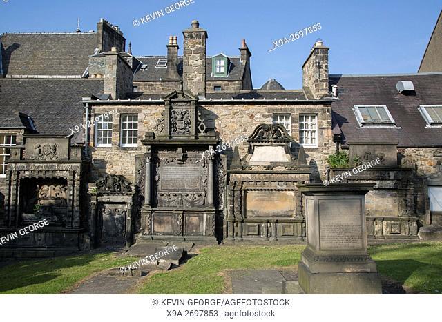 Gravestone at Greyfriars Tolbooth and Highland Kirk - Church, Edinburgh, Scotland