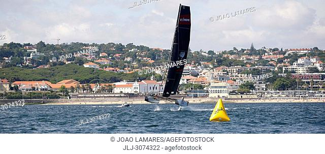 Sailing: Team Portugal with Luis Brito and Henrique Brites as a skippers. Extremesailing round 4 at Baia de Cascais, Cascais, Portugal