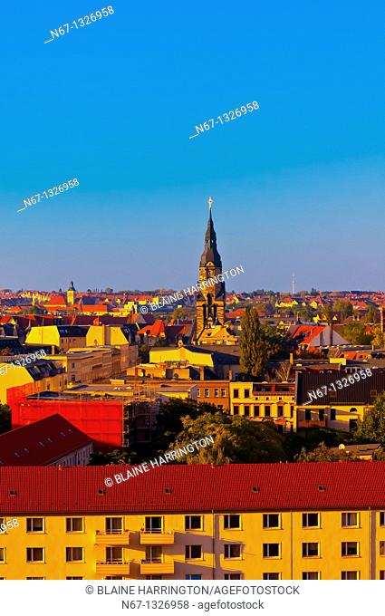 Overview of the skyline, Leipzig, Saxony, Germany