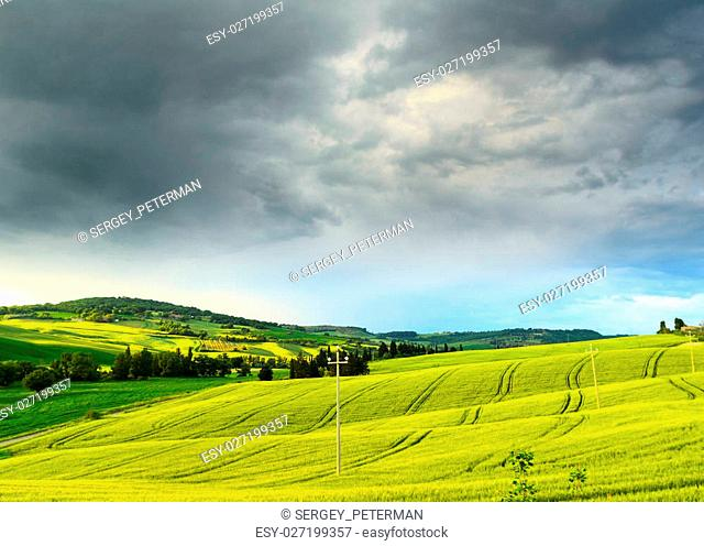 landscape view of Tuscany, Italy