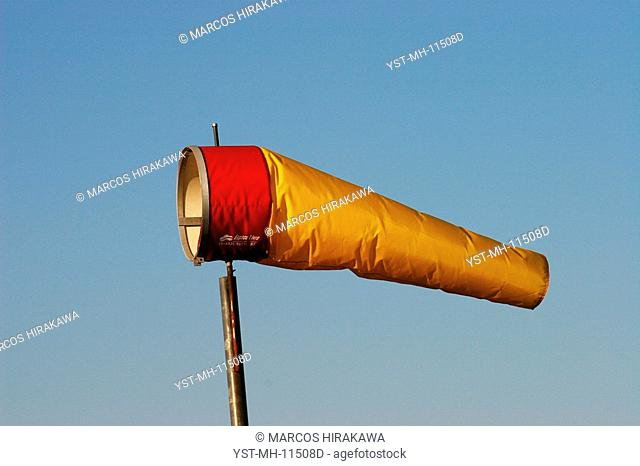 Wind sleeve, São Vicente, São Paulo, Brazil