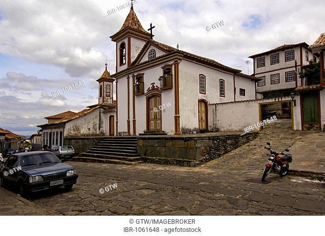 Churches Bonfin dos Militares and Nossa Senhora do Carmo, Diamantina, UNESCO World Heritage Site, Minas Gerais, Brazil, South America