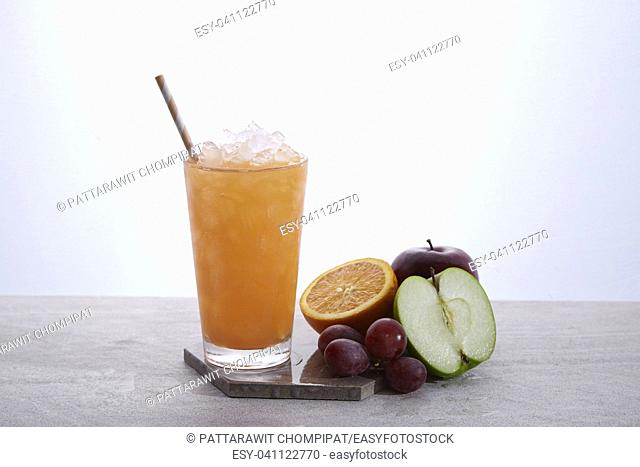 Juice is a liquid (drink) that is naturally contained in fruit and vegetables. It can also refer to liquids that are flavored with these or other biological...