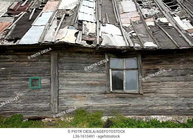 An old abandoned rural house in Poland
