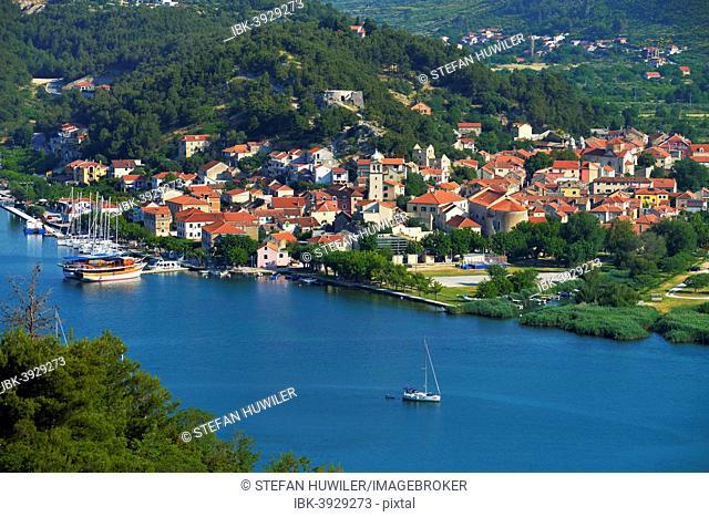 Townscape of Skradin, River Krka, Dalmatia, Croatia