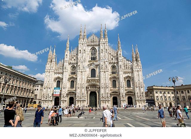 Italy, Milan, view to Milan Cathedral