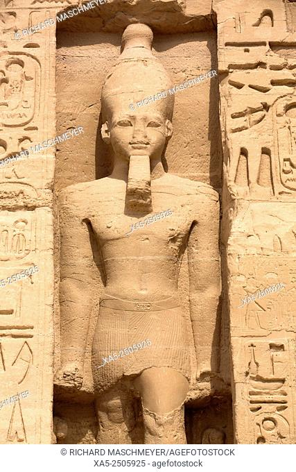 Rock-Hewn Statue of Ramses II, Hathor Temple of Queen Nefertari, Abu Simbel, Egypt