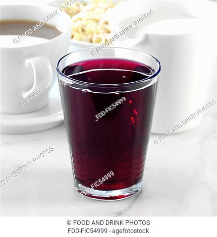 Glass of Blueberry Juice