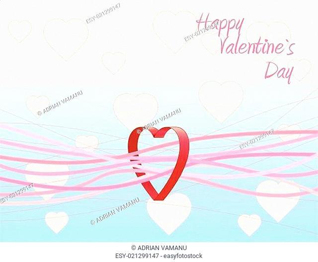 Heart valentine's background. Vector