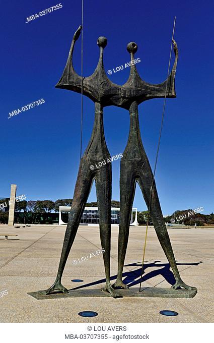 Brazil, Brazil, monument 'Os Candangos' as a dedication to the builder of the Brazilian capital, artists, Bruno Giorgi