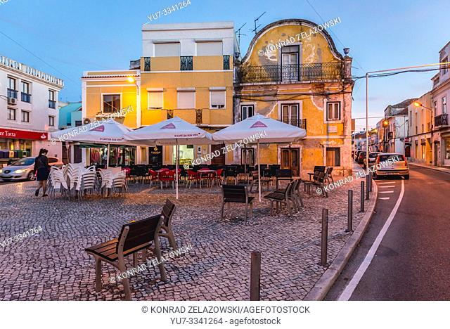 Square in Moita town, Setubal District in Portugal