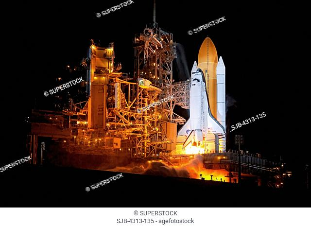 Discovery Launches on STS-131