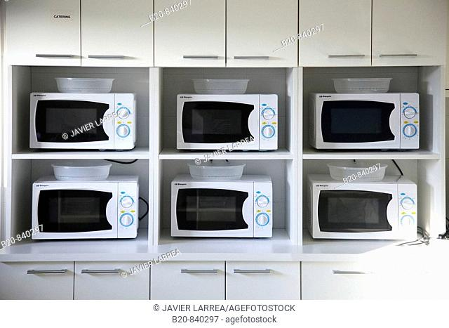 Microwave ovens, kitchen, AZTI-Tecnalia, Technology Centre for Marine and Food Research, Derio, Biscay, Basque Country, Spain