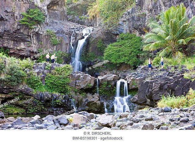 Waterfall of Oheo Pools, USA, Hawaii, Maui, Haleakala National Park