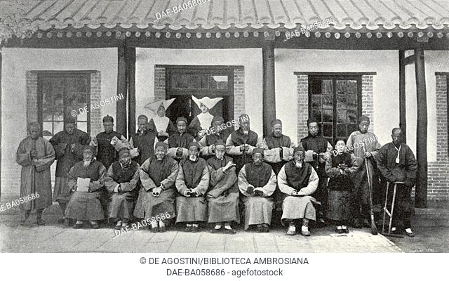 Hospice for the elderly at the Sisters of Charity of St Vincent de Paul's hospital, Beijing, China, photo from L'Illustration, No 2995, July 21, 1900