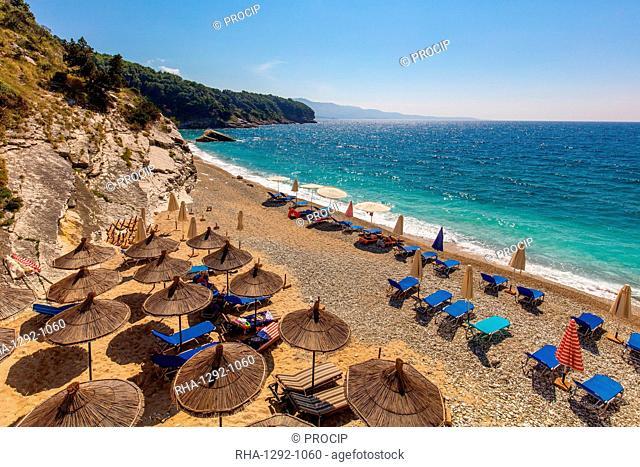 Pulbardha Beach, Himara, South coast, Albania, Europe