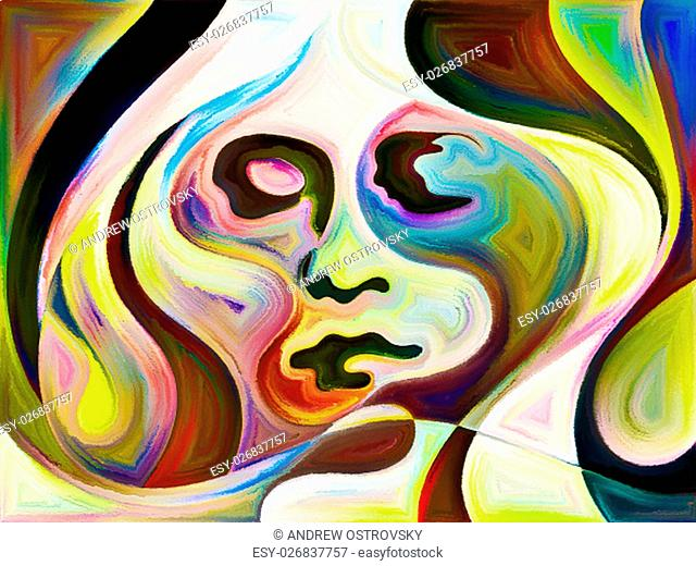Abstract composition on the subject of dreams and emotions