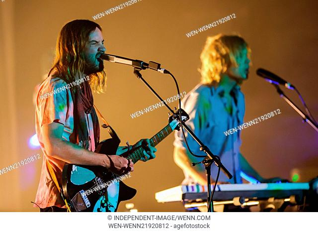 Tame Impala perform at the Beacon Theater Featuring: Tame Impala,Kevin Parker,Jay Watson Where: New York City, New York, United States When: 11 Nov 2014 Credit:...