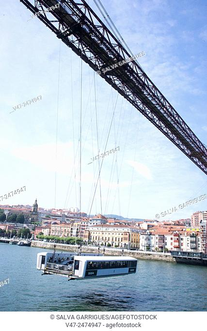 Vizcaya Bridge across the River Nervion, Pais Vasco, Spain, Europe