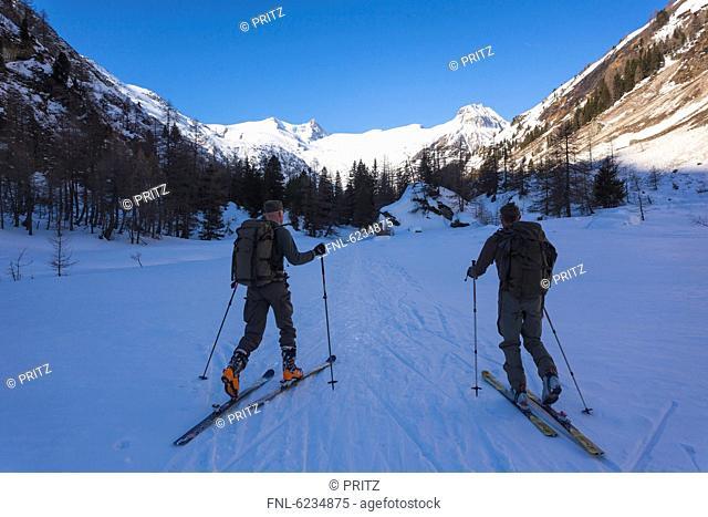 Ski mountaineers in the Hohen Tauern, Tyrol, Austria