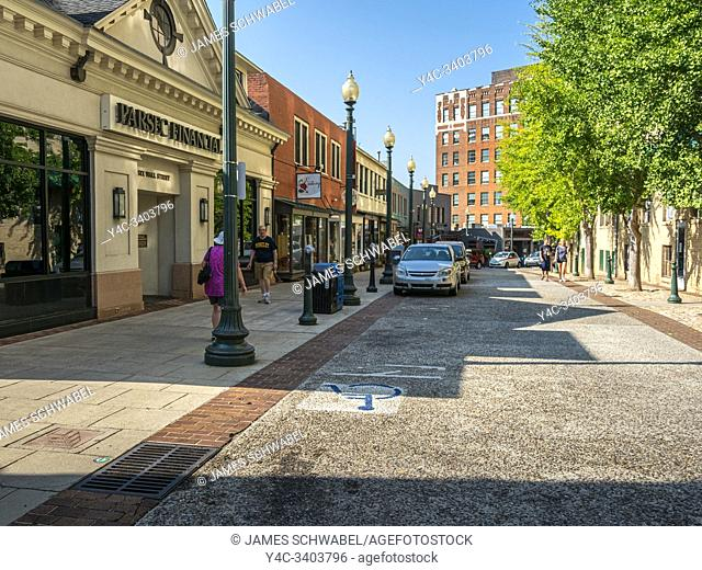Wall Street in downtown Asheville North Carolina