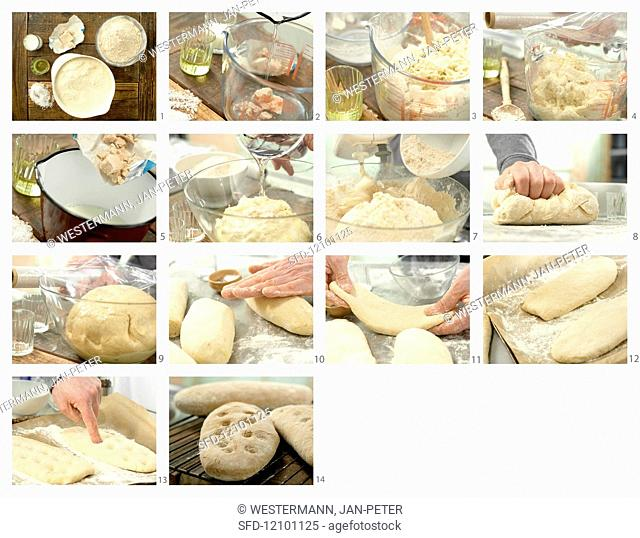 How to bake ciabatta with yeast and olive oil