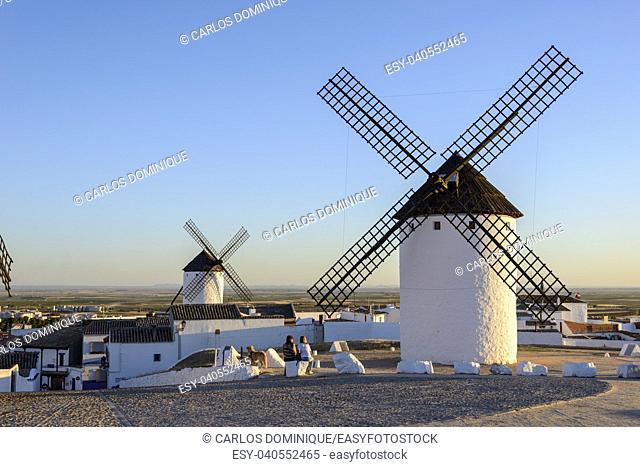 Windmills in Campo de Criptama Ciudad Real Don Quixote land