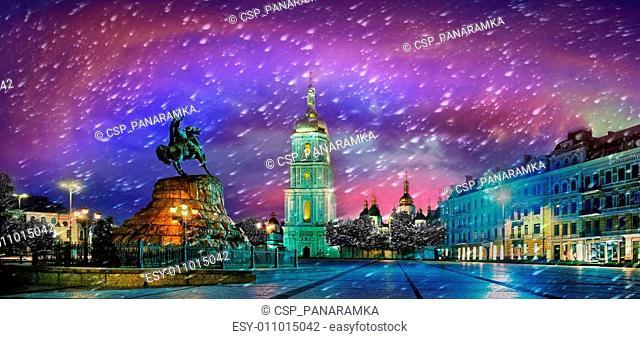 Sophia Square in the capital of Ukraine