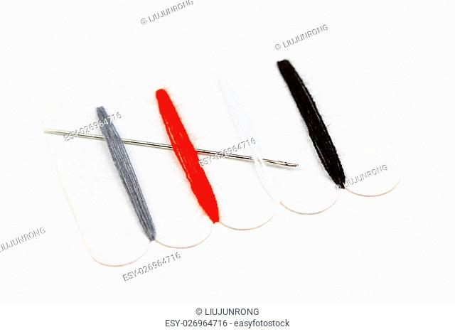 Color needle plate on a white background