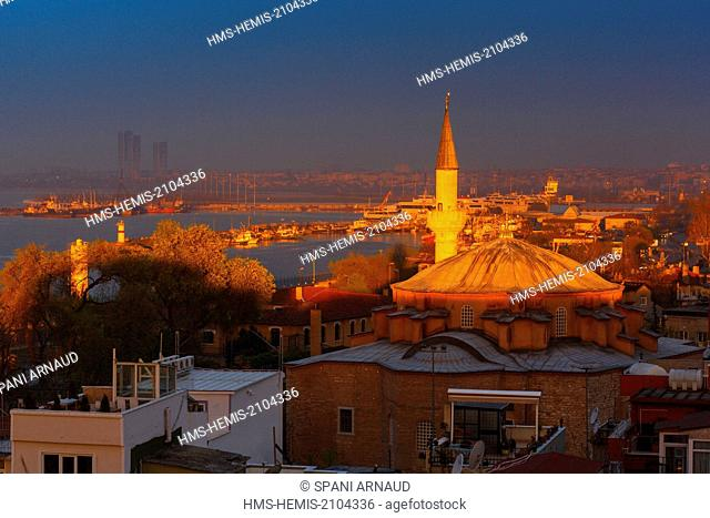 Turkey, Istanbul, historical centre listed as World Heritage by UNESCO, Sultanahmet District, Kucuk Aya Sofya Camii Mosque, the Small Hagia Sophia at sunrise