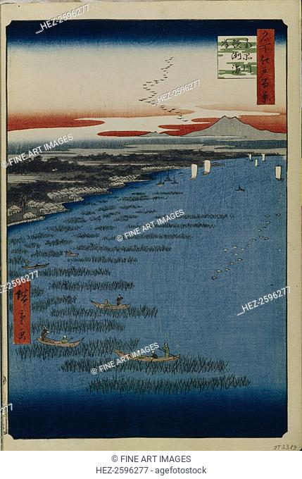 Minami Shinagawa and Samezu Coast (One Hundred Famous Views of Edo), 1856-1858. Found in the collection of the State Hermitage, St. Petersburg