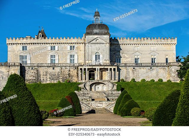 Castle of Vayres in Gironde, Aquitaine, France