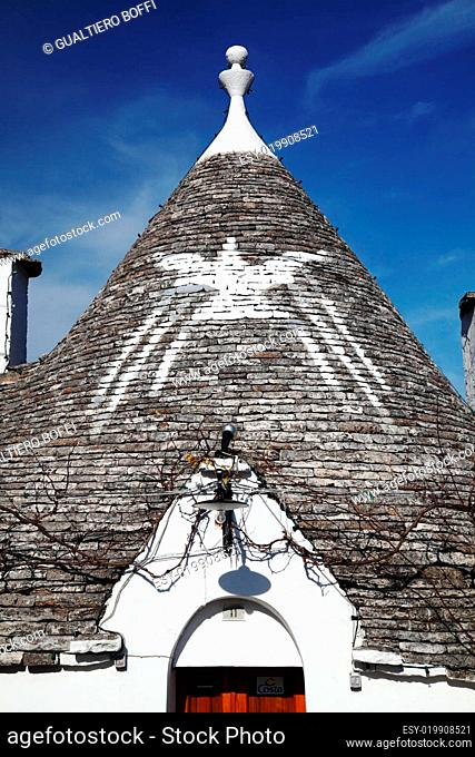 trulli roof and blue sky