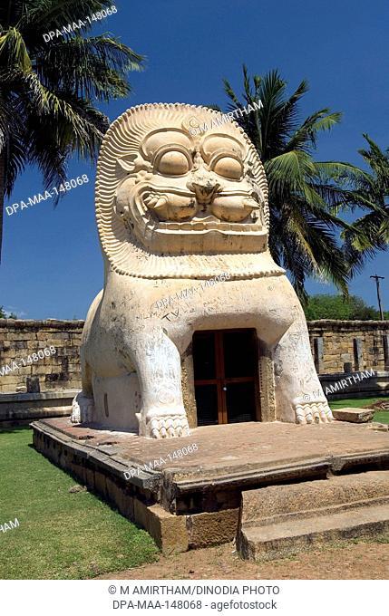 Lion well simhakeni at Brihadishvara temple in Gangaikonda Cholapuram ; capital of the Cholas ; temple of Shiva ; Tamil Nadu ; India