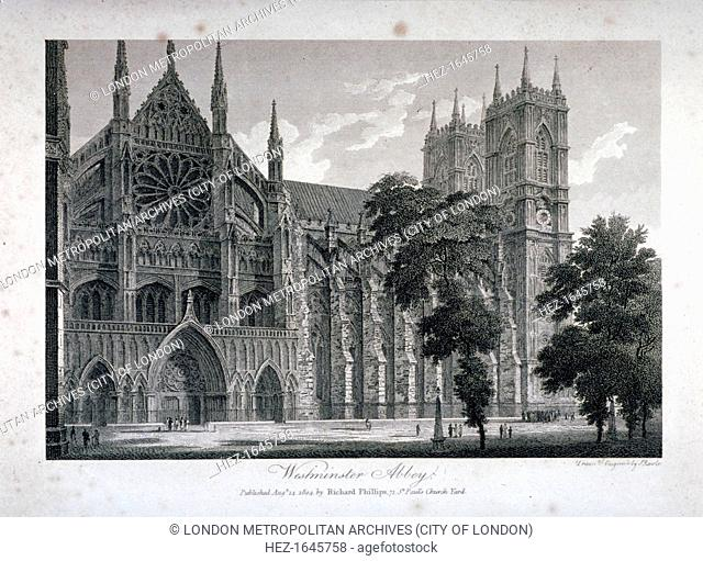 Westminster Abbey, London, 1804