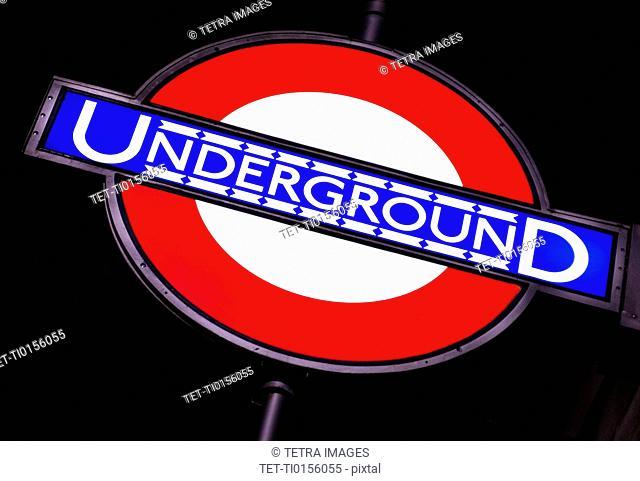 UK, London, Subway sign