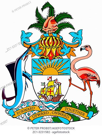 National coat of arms of the Commonwealth of Bahamas