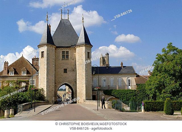 Gate of Joigny, Villeneuve-sur-Yonne, Sens,Yonne, France